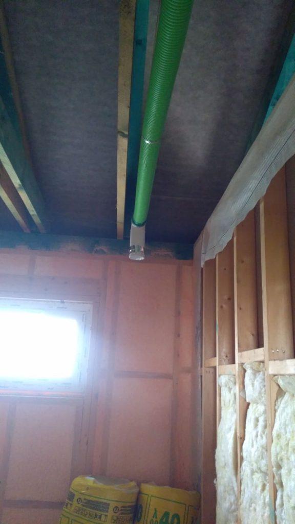 Realizácia rozvodov vzduchu v montovanom dome – Nové Mesto nad Váhom