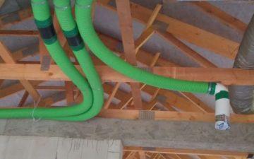 rozvody vzduchu pre rekuperáciu tepla Bobrovček