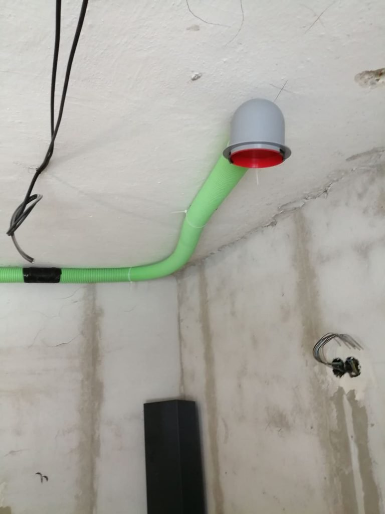 Rozvody vzduchu - rekonštrukcia domu Oščadnica