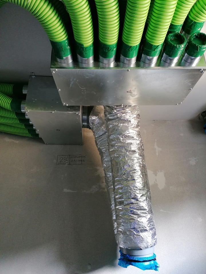 montaz rozvodov vzduchu pre rekuperaciu Orava 2