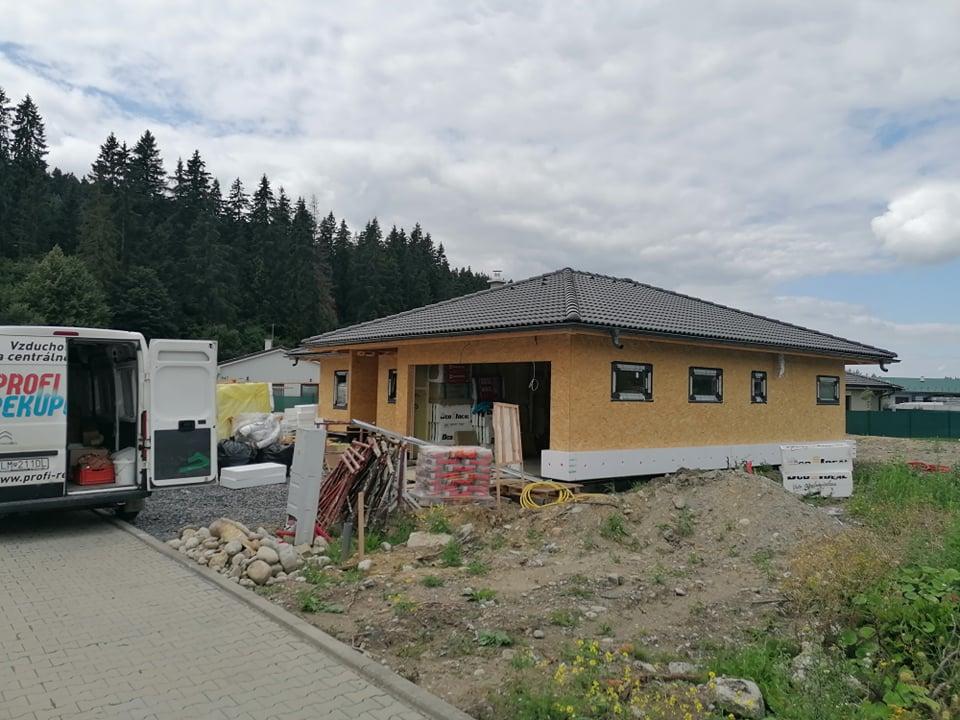rekuperacia montovany drevo dom