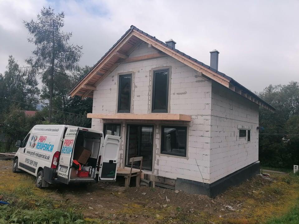 rekuperacia poschodovy dom Orava